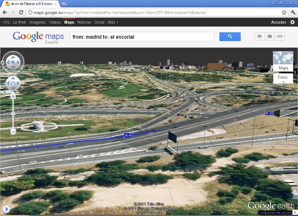 Nueva vista aérea 3D en Google Maps
