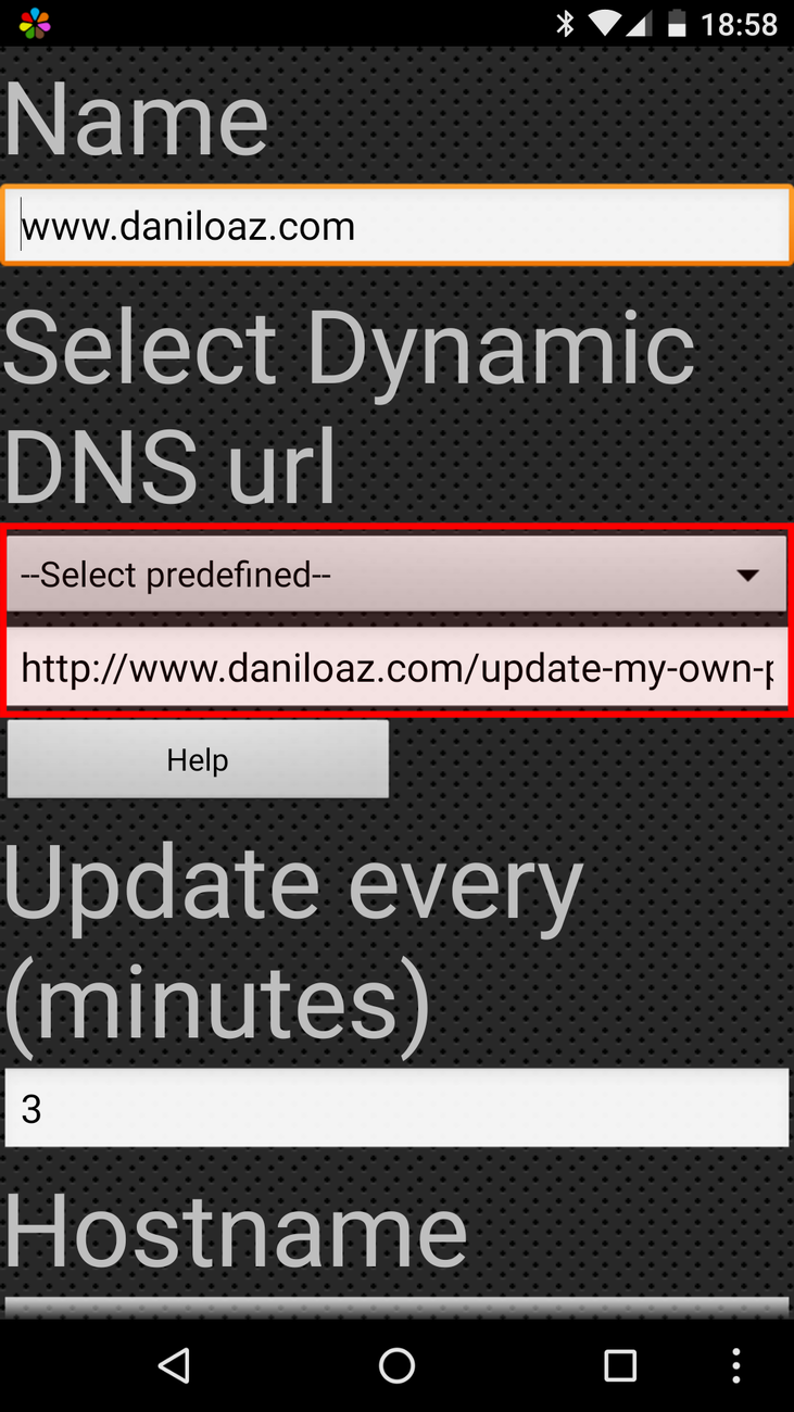 Dynamic DNS Update configuration: step 1