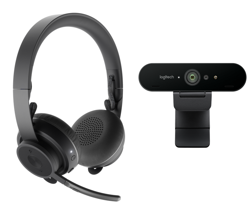 Webcam and headset for videoconferencing