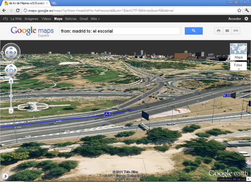 New aerial 3D view in Google Maps