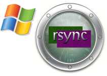 Rsync and Windows logos