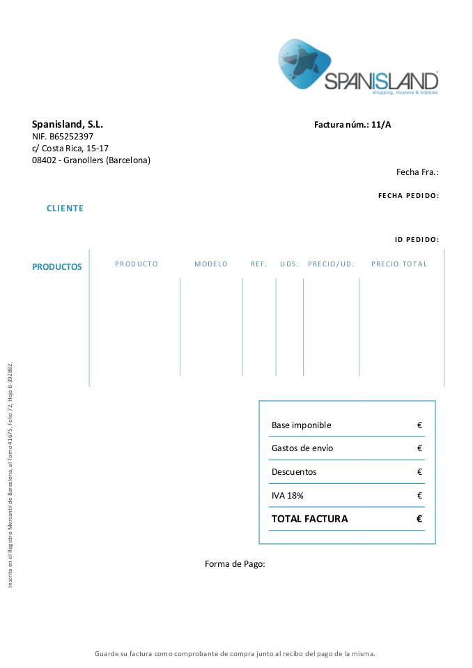 OpenCart PDF Invoices With ZendPdf Spanisland Daniloazcom - Opencart invoice