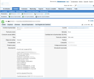 Custom modification of Opportunities SugarCRM native module