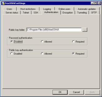 Public key folder path