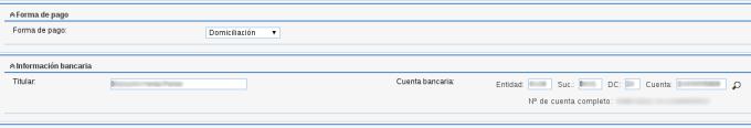 """Campo personalizado """"Cuenta bancaria"""""""
