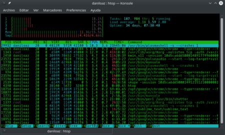 htop-command-output