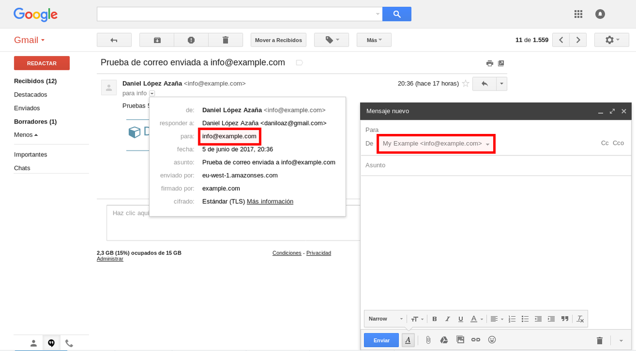 Usar GMail gratis con tu propio dominio gracias a Amazon SES + Lambda