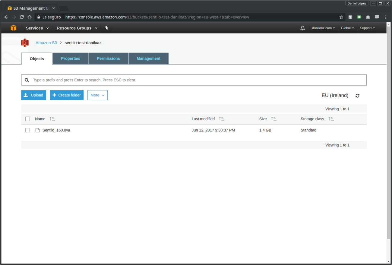 How to create a Sentilo AWS EC2 instance from an OVA file