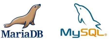 Logos de MariaDB y MySQL